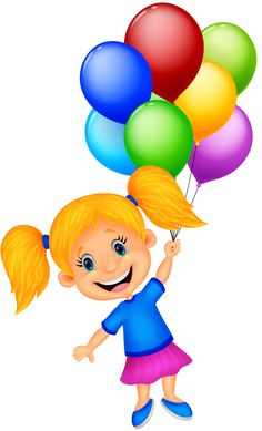 """Photo from album """"Сборник on - Bildung Girl Holding Balloons, Its A Girl Balloons, Art Drawings For Kids, Art For Kids, Picture Borders, Balloon Clipart, Mickey Mouse Images, Birthday Clips, Cardboard Box Crafts"""