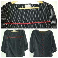 blouse uit naaien en stikken