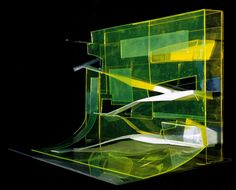 Zaha Hadid, Model, Rosenthal Center for Contemporary Art, 2003, Cincinnati, Ohio, USA