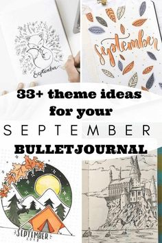 33+ theme ideas for your September Bullet Journal - September is just around the corner and I could not be more excited. I always feel such an excited energy about this month, maybe that goes back to the days when I went to school? Click to read more. Bullet Journal September Cover, Bullet Journal For Beginners, Bullet Journal Monthly Spread, Bullet Journal Cover Ideas, Bullet Journal How To Start A, Bullet Journal Writing, Bullet Journal Themes, Bullet Journal Layout, Journal Covers