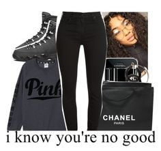 """I know you're no good"" by ayye-emoji-queen0 ❤ liked on Polyvore featuring interior, interiors, interior design, home, home decor, interior decorating, Chanel, Victoria's Secret PINK and 7 For All Mankind"