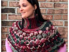 Unique Crochet Patterns - Sea Shells Turtleneck Poncho. Make your own fashion statement with this 'Popping Ponchette'! #turtleneckponcho #crochetpatterns http://www.mamtamotiyani.com/product/crochet-sea-shells-turtleneck-poncho-pattern