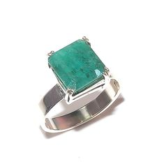 Natural Zambian Emerald Ring 925 Sterling Silver New Year Men's Jewelry Gifts AA Jewelry Gifts, Fine Jewelry, Women Jewelry, Fashion Jewelry, Men's Jewelry, Handmade Rings, Handmade Silver, Zambian Emerald, Green Emerald Ring