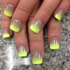 Yellow and Tan nails