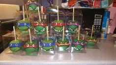 Ninja Turtle chocolate candy apples