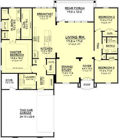 #656363 - 3 bedroom 2 bath Country French : House Plans, Floor Plans, Home Plans, Plan It at HousePlanIt.com