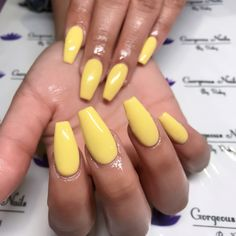 Coffin nails vs perfect yellow gel