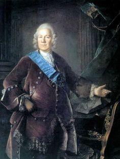 Портрет графа А.П. Бестужева-Рюмина, Луи Токке