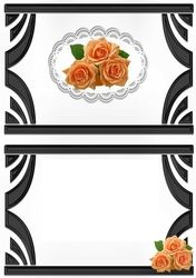 Ornate Art Deco frame with peach roses A5 insert on Craftsuprint - View Now!
