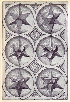 Ignis (c) - Perspectiva Corporum Regularium - Wenzel Jamnitzer 1568