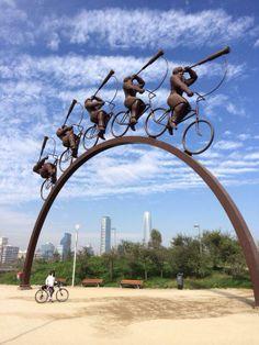 Parque de las esculturas Santiago, Chile