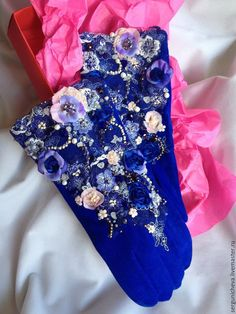 Diy Fashion Accessories, Blue Roses, Diy Clothing, Diamond Are A Girls Best Friend, Keep Warm, Leather And Lace, Floral Tie, Headbands, Knit Crochet