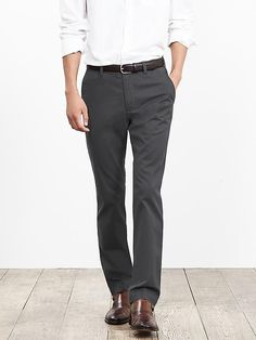 Aiden Slim-Fit Chino in Grey