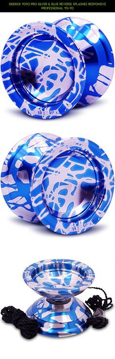 Sidekick Yoyo Pro Silver & Blue Reverse Splashes REsponsive Professional Yo-Yo #camera #technology #shopping #drone #professional #products #responsive #tech #kit #plans #yo-yo #racing #gadgets #parts #fpv