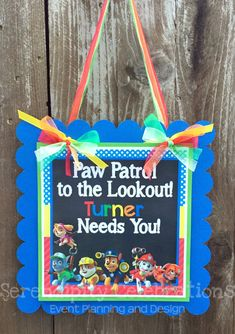 Image result for paw patrol birthday sign