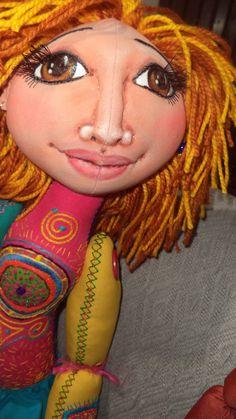 """Martha"" Fabric doll.  Elsa Sanguino. 2015"