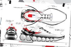 To create a new form of running shoe for FILA China. These are initial concept drawings.