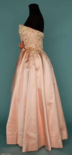 JEWELED PINK BALL GOWN, 1960-1970