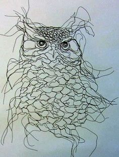 Wire Owl by Elizabeth Berrien. Check out her  website. Her sculptures are awesome.