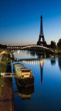 River Seine, Eiffel Tower ~ Paris, France.