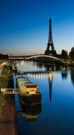 River Seine, Eiffel Tower ~ Paris, France.
