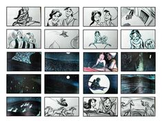 "A master artist who created the storyboards for some of Disney's most beautiful scenes. From the ""Whole New World"" sequence in ""Aladdin"" to . Disney Sketches, Disney Drawings, Storyboard, Magic Carpet, A Whole New World, Aladdin, Storytelling, Photo Wall, Frame"