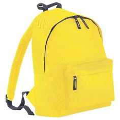 5df465dc0128 Bagbase Fashion Backpack   Rucksack Liters) (One Size) (Yellow Graphite  Gray). Dimensions  17 x 12 x 8 inches. Maximum print area  8 x 6 inches.