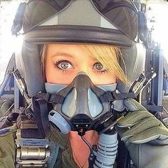 Female Pilot in Mask Female Fighter, Fighter Pilot, Fighter Jets, Female Pilot, Female Soldier, Pilot Uniform, Pilot Training, Military Women, Military Female