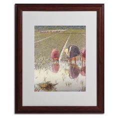 'For Eighty Pennies' by Angelo Morbelli Matted Framed Painting Print