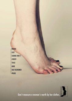 Don't measure a woman!
