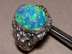 Massive 9.68ct Gem Welo Opal Mens Ring 28 grams 925 Silver | Can be made in Gold | eBay