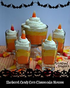 Starburst Candy Corn Cheesecake Mousse.
