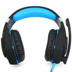 EACH G2100 Gaming Headset Stereo Sound 2.2m Wired Headphone Noise Reduction with Hidden Microphone Vibration for PC Game(Blue)