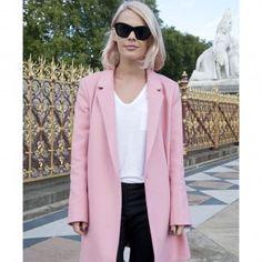 Le manteau rose, look de la Fashion Week printemps été 2014 de Londres