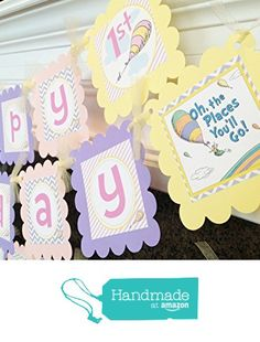 PARTY PACK SPECIAL - Oh The Places You'll Go Inspired Happy Birthday Collection - Pastel Purple Chevron, Pink Stripes & Yellow Accents from Emerald City Paperie http://www.amazon.com/dp/B01BHRLLEI/ref=hnd_sw_r_pi_dp_fYn5wb0GCE140 #handmadeatamazon