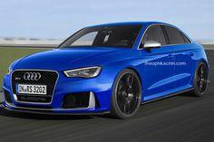 So könnte sie aussehen, die Audi RS3 Limousine. Ebenfalls mit 367 PS unter der Haube und Allradantrieb bestückt, dürfte auch sie in 4,3 Sekunden auf Tempo 100 stürmen.