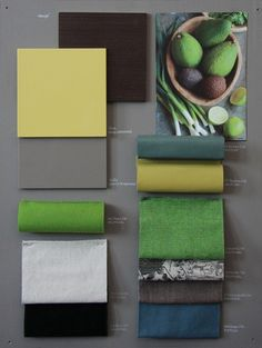 The colour palettes that go into our designs are thought provoking and vibrant! Mood Board Interior, Interior Design Presentation, Fabric Board, Material Board, Interior Concept, Colour Schemes, Colour Palettes, Colour Board, Color Pallets