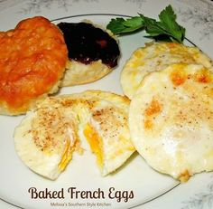 Skip frying and make these Baked French Eggs. They're prepared in a muffin tin making it possible to make up to one dozen eggs at a time.
