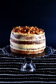 Triple caramel cake...second shot of it because itlooks so good!!!!  (with hazelnuts!)