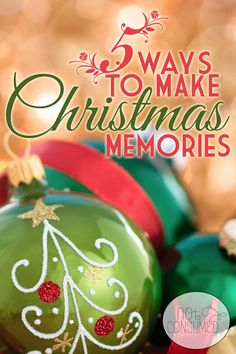 Long after the latest toys are broken and shoved under the bed, it's the memories that our kids will cherish in their hearts. Looking for ways to make christmas memories? This post will give you 5 core ideas with tons of fun packed inside!