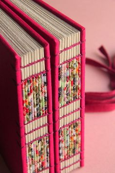 A really beautiful Way to decorate A Coptic binding spine