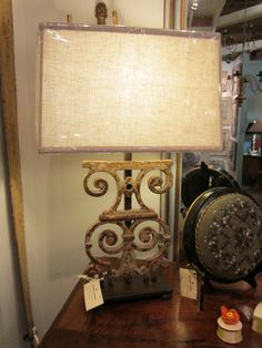 antique iron lamps