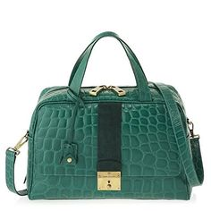 Marc Jacobs Frankie Satchel Bag, Emerald with Antique Gold