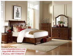 Set Tempat Tidur Jati Minimalis Contoh Desain R Mewah Dan Elegan Foto Gambar