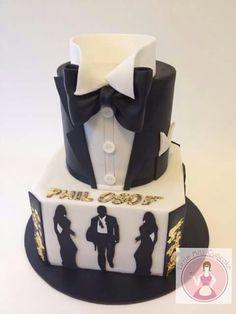 25 best james bond cake images in 2017 James Bond Cake, James Bond Party, Casino Theme Parties, Party Themes, Beautiful Cakes, Amazing Cakes, Masculine Cake, Film Cake, Movie Cakes