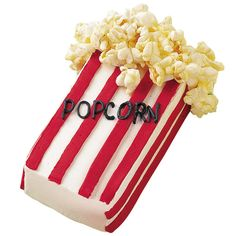 Use faux popcorn boxes as edible props when hosting an Oscar party or a family film festival. Piped icing details and freshly popped popcorn turn Mini Loaf Pan cakes into America?s favorite movie-theater treats.