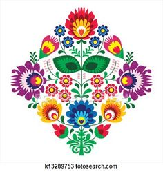 Hungarian Embroidery Patterns hungarian embroidery ideas Folk embroidery with flowers - traditional polish pattern - wycinanka, Wzory Lowickie - stock vector - - Hungarian Embroidery, Folk Embroidery, Paper Embroidery, Learn Embroidery, Flower Embroidery, Polish Embroidery, Mexican Embroidery, Simple Embroidery, Embroidered Flowers