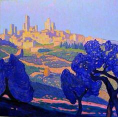 summer morning in San Gimignano
