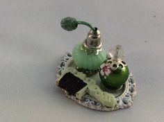 Miniature Perfume Bottles Vanity Tray  Dollhouse Perfume  1:12 Scale  Handmade Dollhouse Decor Supplies by GugasMiniPlace on Etsy
