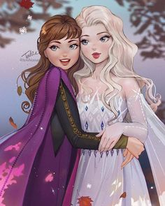 She was a unicorn wishing to be a girl, the good witch gave her the gold tiara to change her into human. Everytime she… Frozen Fan Art, Frozen 2, Disney Frozen, Disney Magic, Arte Disney, Disney Fan Art, Elsa Anime, Sleeping Beauty Art, Disney Princess Pictures